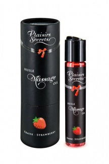826007 MASSAGE OIL STRAWBERRY 59ML Массажное масло Земляника 59 мл